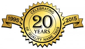 celebrating 20 years name tags name plates personalized ribbons