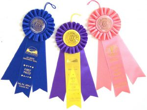 personalized custom rosette award ribbons for pets events