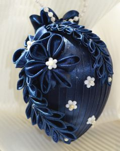 making Kanzashi Flowers using ribbon rolls and turning them into decorations