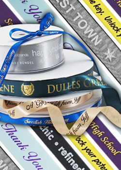 various custom ribbon rolls