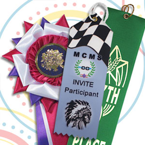 Ribbon awards for fairs and festivals