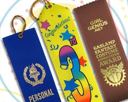Stock and custom prize ribbons