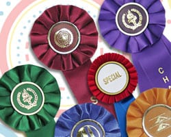 Stock and custom rosette ribbons