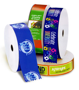 Eye-catching full-color ribbons may be printed with gradients and color blends.