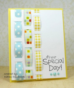 woven ribbon custom made note card