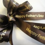 use father's day holiday ribbons rolls for gifts