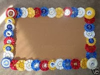 rosette award ribbon custom frame