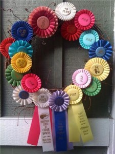 rosette ribbon color wreath