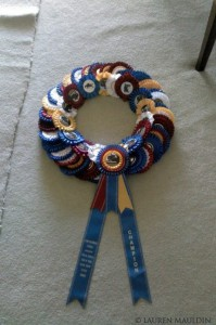 rosette ribbon horse show wreath