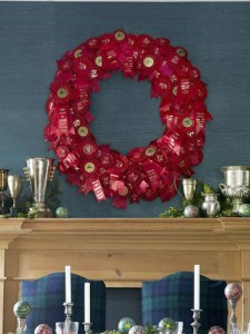homemade rosette award ribbon wreath festive holiday