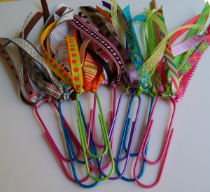 paperclips and ribbons bookmarks