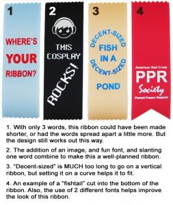 avoiding boring ribbons badge ribbon imprinted metal die fitting text