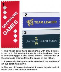 avoiding boring ribbons badge ribbon metail die add a logo
