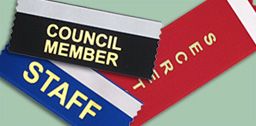 Badge ribbons to wear at trade shows