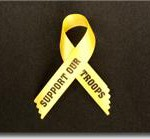awareness ribbon how to tutorial support our troops yellow military