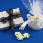 party and shower favors personalized wedding ribbon rolls