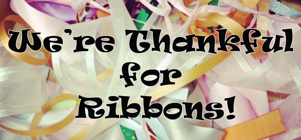 thankful for personalized ribbons