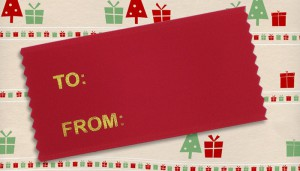 to from badge ribbon for the holidays