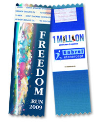 vertical full-color badge ribbons are perfect for any event promotional materials