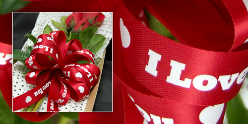 ribbon rolls are perfect for any valentine gift especially a flower bouquet