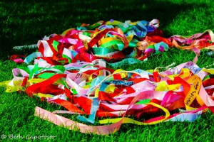 custom ribbon rolls used has prayer ribbons