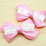 ribbons and lace for hair bows, head bands and jewelry items like necklaces and bracelets