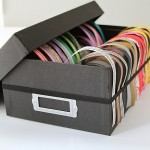 ribbon storage using a shoebox