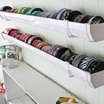 ribbon storage using rain gutters