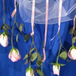 Double Faced Satin Ribbon and Rose Wedding Backdrop