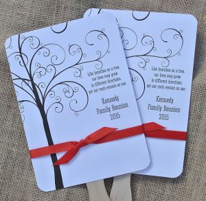 invitations to your family reunion personalized with custom ribbon rolls