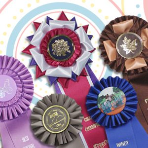 rosette ribbons are a perfect way to recognize achievements and present awards