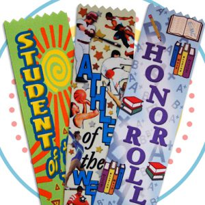 multi color award ribbons for all you back to school needs