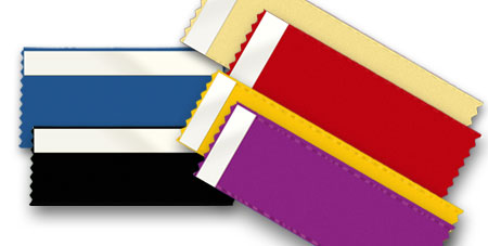 blank badge ribbons have many uses - use them for branding during conferences and conventions