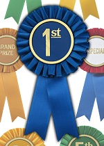 use personalized rosette ribbons with your logo or company slogan for your brand awareness