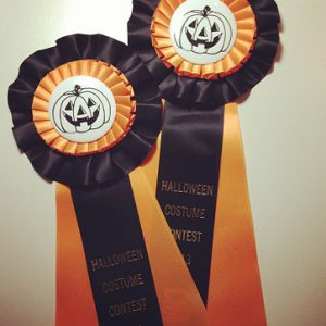 personalize any of these rosette ribbons for your halloween fun and festivities