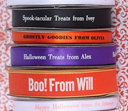 personalize any of these ribbon rolls for your halloween fun and festivities