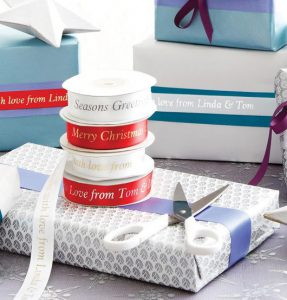 Easy Uses for Custom Ribbon Rolls This Holiday include gift wrapping and decorations