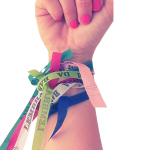 wearing promise ribbons and brazilian wish ribbons and making your own personalized ribbons