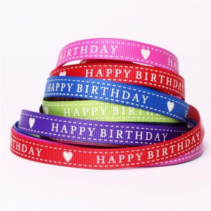 using personalized ribbon rolls for your next birthday party