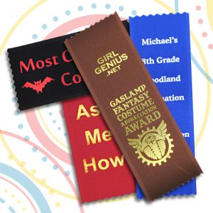 imprinted custom ribbons are perfect for any fair, sporting event or other achievement day
