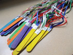 letting the kids have fun with ribbons will help imagination grow