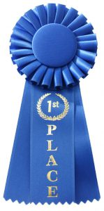 blue ribbons are given at state fairs and sporting events to recognize winners for achievements