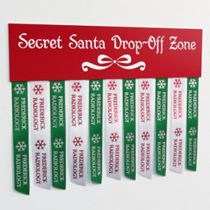 using personalized ribbons and custom signs for holiday decorations for home and office