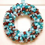 Wreaths made of ribbon strips