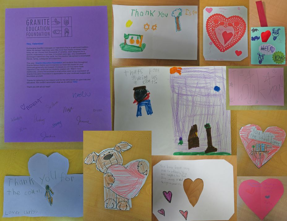 these special valentines show how much gratitude and appreciation comes from our annual GEF donation