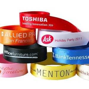 Branded ribbon rolls are perfect to use as traveling ribbons on goody bags an other treats.