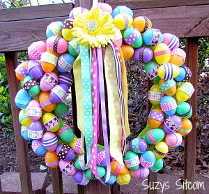 use holiday easter ribbons to create your own decorative wreath