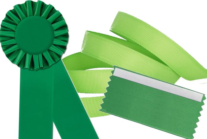 wearing green ribbons help promote pedestrian safety