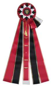 Guernsey Rosette Ribbons are perfect for an extravagent reward for a job well done