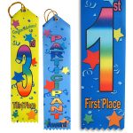 badge ribbons make great prize and reward ribbons for any event or conference